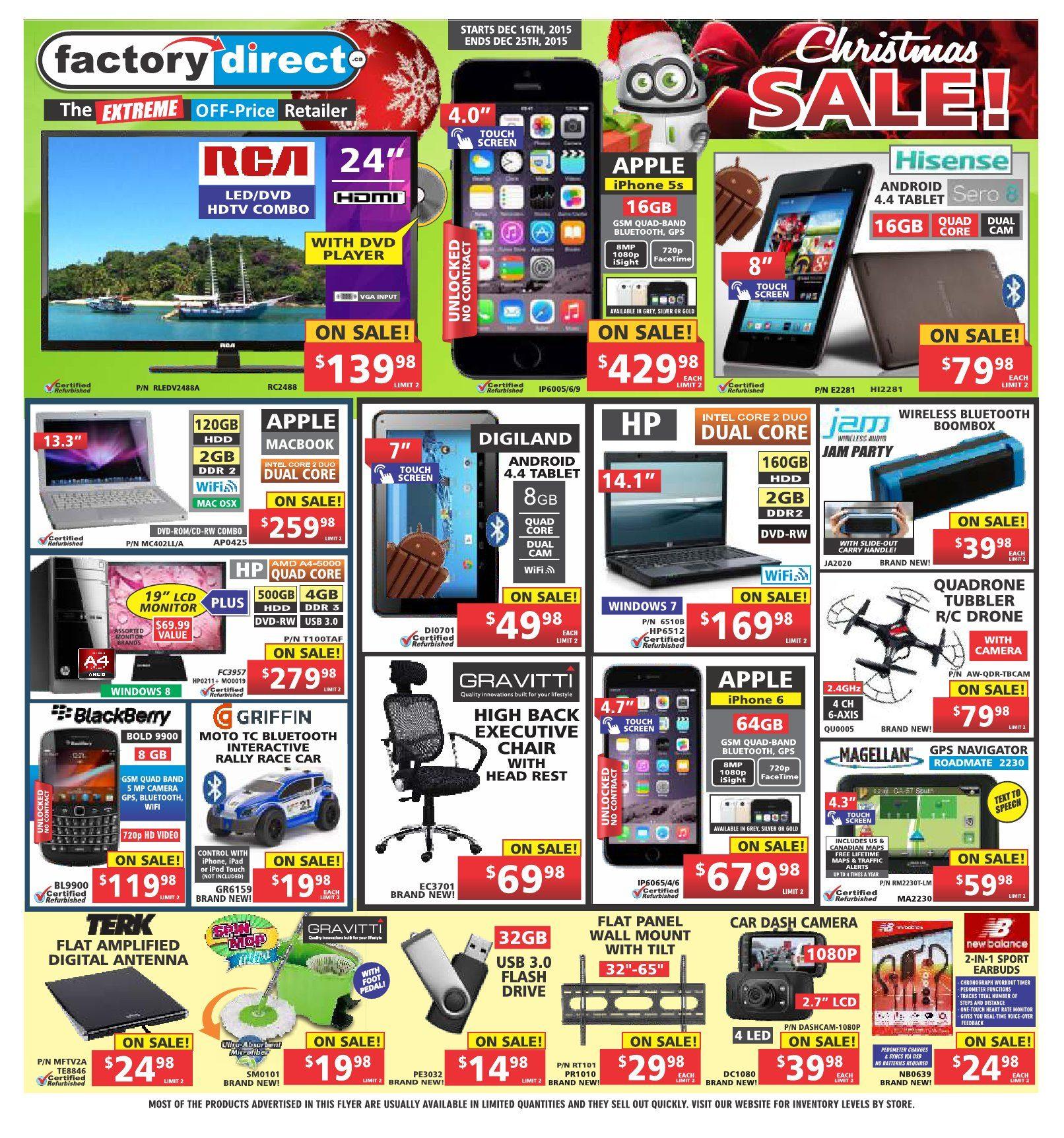 Factory Direct Weekly Flyer - Weekly - Christmas Sale! (EN