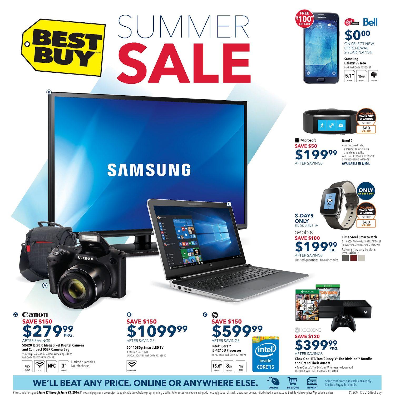 Best Buy Weekly Flyer - Weekly - Summer Sale - Jun 17 – 23