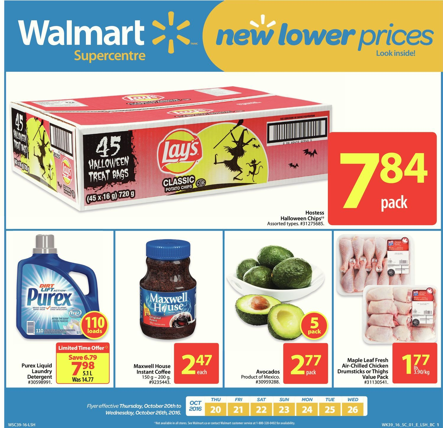 Walmart Weekly Flyer Supercentre New Lower Prices Oct 20 26 Minute Maid Homestyle Orange 1l