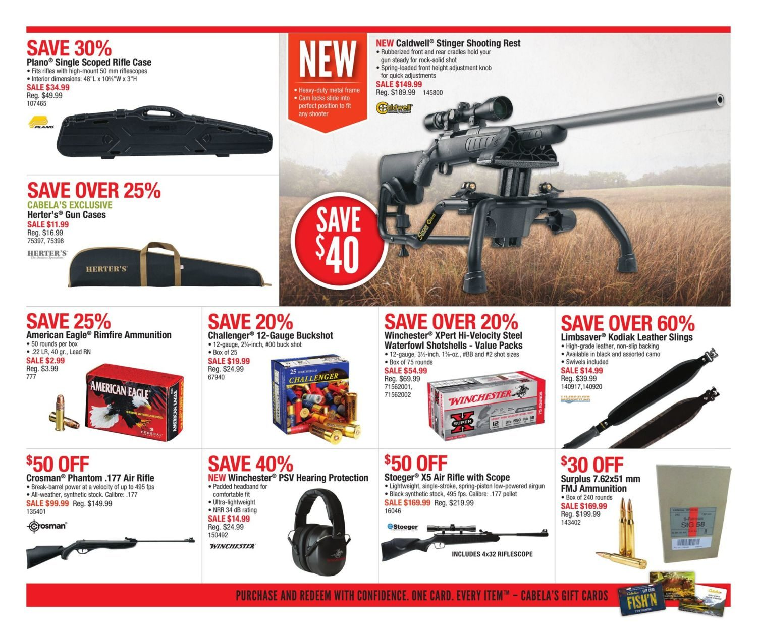 Cabelas Weekly Flyer - Clearance - Aug 3 – 9 - RedFlagDeals com