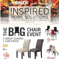 The Brick - Inspired Home Solutions - The Big Chair Event Flyer