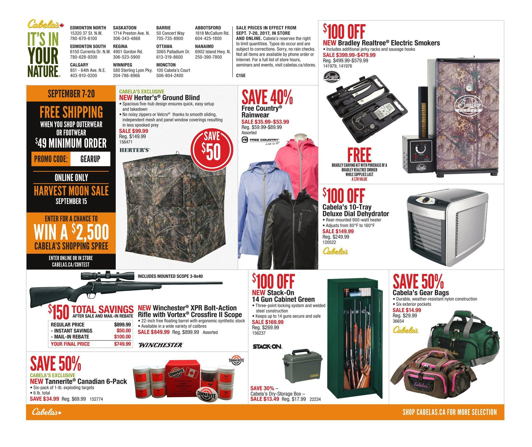 79649a91456 Cabelas Weekly Flyer - Fall Great Outdoor Days - Sep 7 – 20 -  RedFlagDeals.com