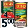 Primo Tomato Sauce, Tomatoes or Beans