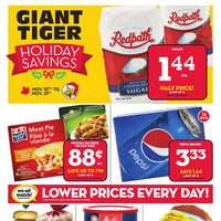 Giant Tiger - Weekly - Holiday Savings & Early Black Friday Deals Flyer