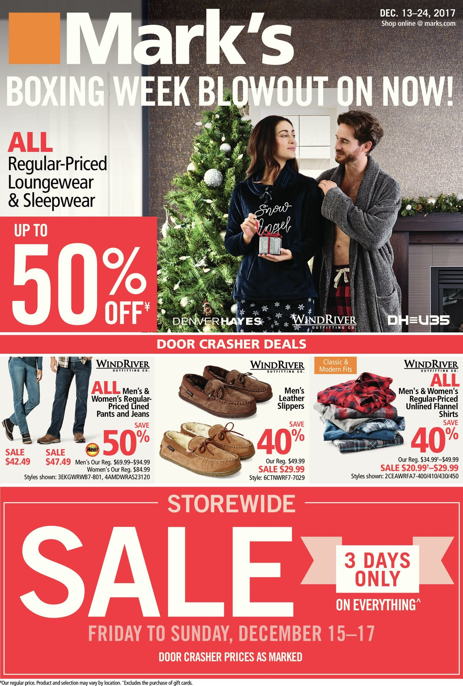 c1e3d5f88 Mark's Weekly Flyer - Boxing Week Blowout on Now! - Dec 13 – 24 ...