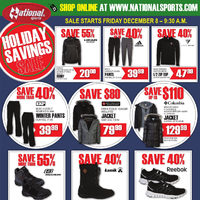 National Sports - Holiday Savings Flyer