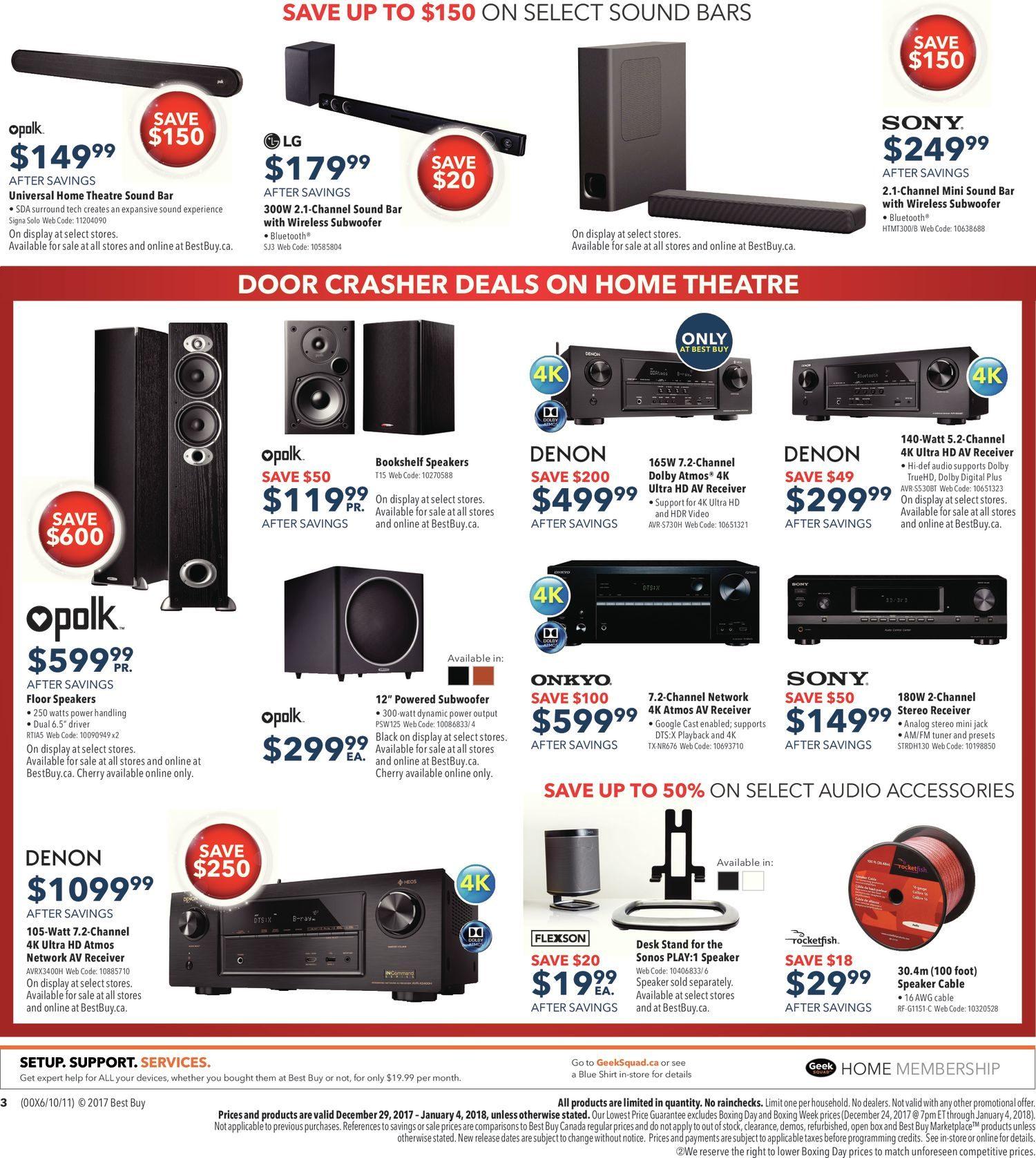 Best Buy Weekly Flyer Boxing Week Sale Dec 29 Jan 4 Virus 16 Awg Speaker
