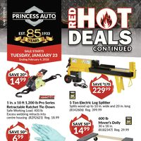 Princess Auto - Red Hot Deals Continued Flyer