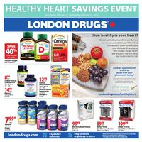 London Drugs - Healthy Heart Savings Event Flyer