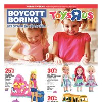Toys R Us - 2 Weeks of Savings - Boycott Boring Flyer