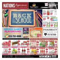 Nations Fresh Foods - Weekly Specials - Back To School Flyer