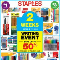 - 2 Weeks of Savings - Writing Event Flyer