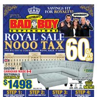 Bad Boy Furniture - 2 Weeks of Savings - Royal Sale Flyer
