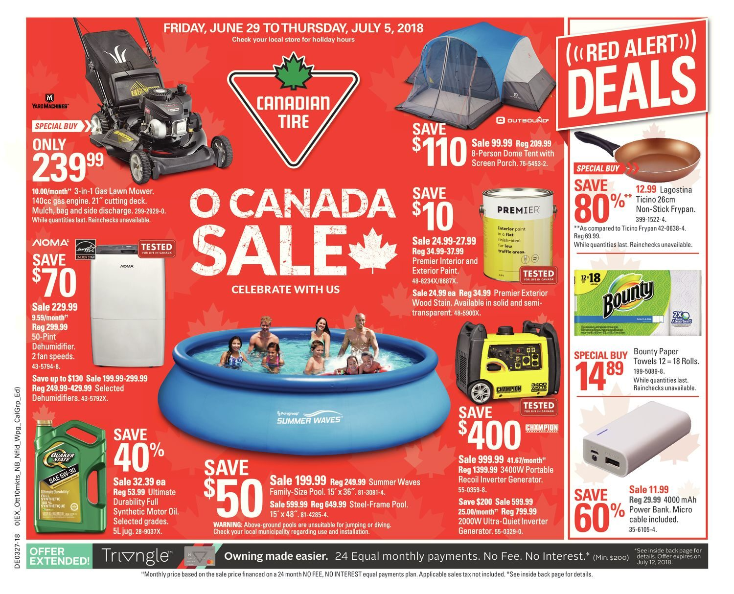 Canadian Tire Weekly Flyer O Canada Jun 29 Jul 5 Redflagdeals Com
