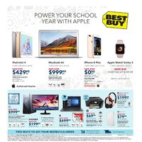 Best Buy - Weekly - Power Your School Year With Apple Flyer