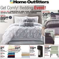 Home Outfitters - Weekly - Get Comfy! Bedding Event! Flyer