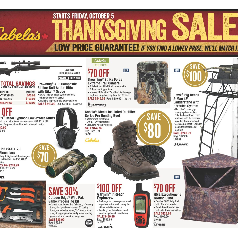 625745fd4220 Cabelas Weekly Flyer - Thanksgiving Sale! - Oct 5 – 21 - RedFlagDeals.com