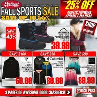 National Sports - Fall Sports Sale Flyer