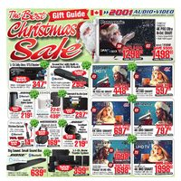 2001 Audio Video - Weekly - The Best Christmas Sale Gift Guide Flyer