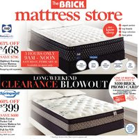 The Brick - Mattress Store - Long Weekend Clearance Blowout Flyer