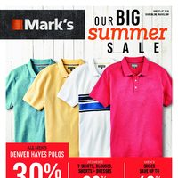 Mark's - 6 Days of Savings - Our Big Summer Sale Flyer
