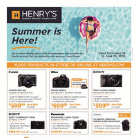 Henry's - Summer Is Here! Flyer