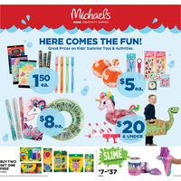 Michaels - Weekly - Here Comes The Fun! Flyer