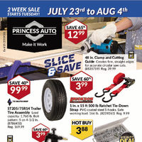 Princess Auto - Slice & Save Flyer