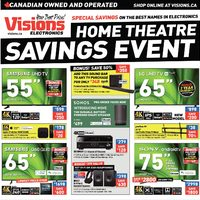 Visions Electronics - Weekly - Home Theatre Savings Event Flyer