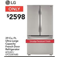 LG 29 Cu. Ft. Ultra-Large Capacity French Door Refrigerator