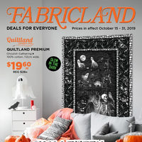 Fabricland - Deals For Everyone - Halloween Spook-tacular! Flyer