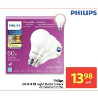 Philips 60W A19 Light Bulbs