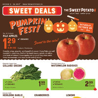 The Sweet Potato - Sweet Deals - Pumpkin Fest! Flyer