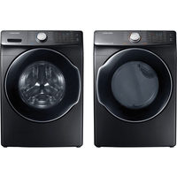 Samsung 5.2 Cu. Ft. HE SuperSpeed Front Load Steam Washer & 7.5 Cu. Ft. Electric Steam Dryer
