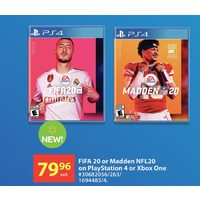 Fifa 20 Or Madden NFL20 On Playstation 4 Or Xbox One