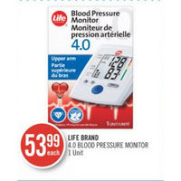 Life Brand 4.0 Blood Pressure Monitor
