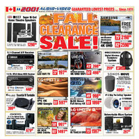 2001 Audio Video - Weekly - Fall Clearance Sale! Flyer