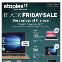 Staples - 8 Days of Savings - Black Friday Sale Flyer