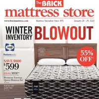 The Brick - Mattress Store - Winter Inventory Blowout Flyer