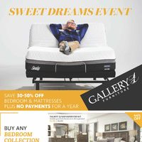 Gallery 1 Furniture - Sweet Dreams Event Flyer