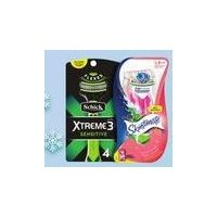 Schick Xtreme 2/3 Sensitive, Sensor 3 Men, Quattro or Skintimate Disposable Razors