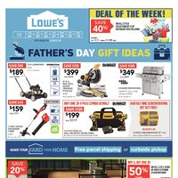 Lowe's - Weekly - Father's Day Gift Ideas Flyer