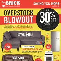 The Brick - Saving You More - Overstock Blowout Flyer