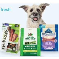 Greenies, Whimzees & Blue Bones Dental Dog Treats