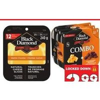 Black Diamond Natural Cheese Slices, Combo
