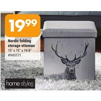 Home Styles Nordic Folding Storage Ottoman