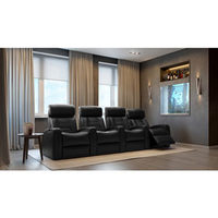 Octane Flex HR 4-Seat Leather Power Recliner Home Theatre Seating