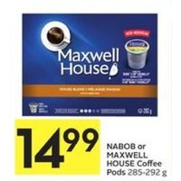 Nabob Or Maxwell House Coffee Pods