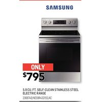 Samsung 5.9 Cu. Ft. Self-Clean Stainless Steel Electric Range