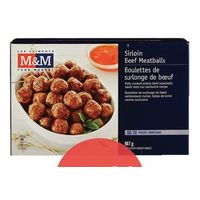 M&M Food Market Sirloin Beef Meatballs